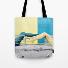 Blue yellow legs Tote Bag