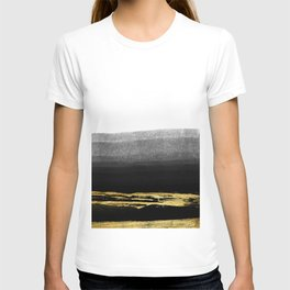 Black & Gold Stripes on White - Mix & Match with Simplicty of life T-shirt
