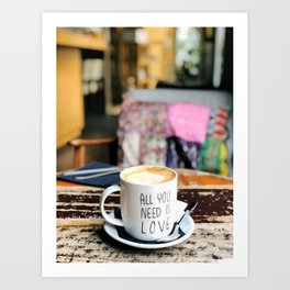 Barcelona coffee shop Art Print