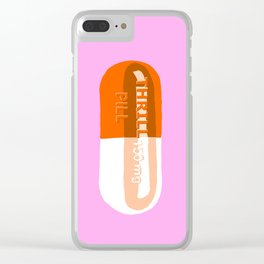 Thrill Pill Pink Clear iPhone Case