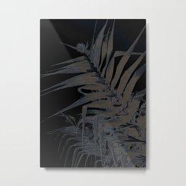 Sword Leaves-black Metal Print