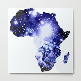 Royal Blue Galaxy Africa Metal Print
