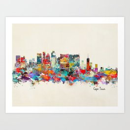 Cape Town South Africa Art Print