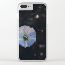 Purple Flower in the Woods Clear iPhone Case