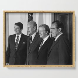 Four American Presidents Posing Together - 1981 Serving Tray