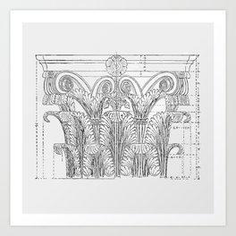 Corinthian column Art Print