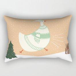 Holiday Cluck Rectangular Pillow