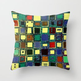 Living in a box (global) Throw Pillow