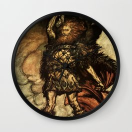 """My Hammer's Swing"" by Arthur Rackham Wall Clock"