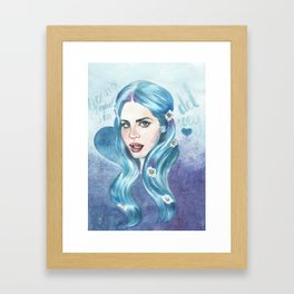 Young & in love Framed Art Print