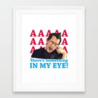 markiplier Framed Art Prints featuring Markiplier x There's Something IN MY EYE ! by pazo