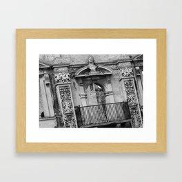 Balcony at Kirby Hall Framed Art Print