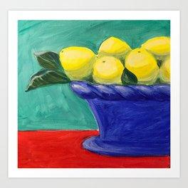 Sweet Summer Lemons Art Print