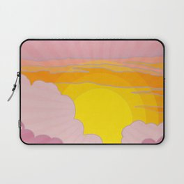 Sixties Inspired Psychedelic Sunrise Surprise Laptop Sleeve