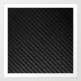 Realistic Carbon fibre structure Art Print