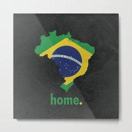 Brazil Proud Metal Print