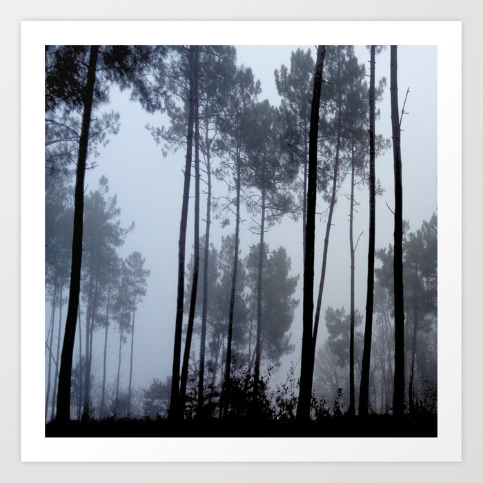 Fog And Forest Iii Wood Mist Romantic Greenery Sunset Dawn Landes Forest Fantasy Art Print By Oldking