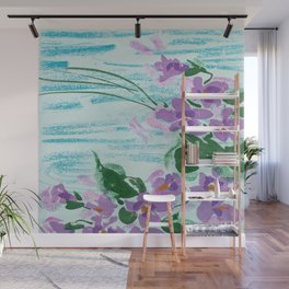 violets Wall Mural