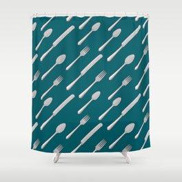 Cutlery Shower Curtain