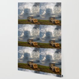 Work Hard - Old Farm Truck and Storm in Southern Kansas Wallpaper
