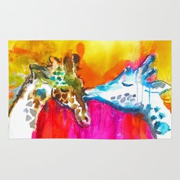 Giraffe Kiss Rug