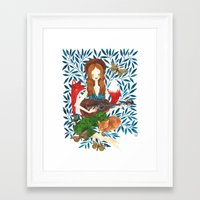 oana befort Framed Art Prints featuring PLAY ME A SONG by Oana Befort