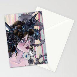 Lady Bird-Head Stationery Cards
