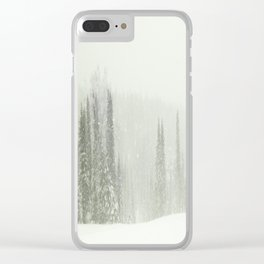 Snowy day Clear iPhone Case