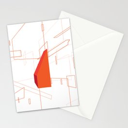 Blueprint #2 (red) Stationery Cards