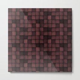 Wood Blocks-Oxblood Metal Print