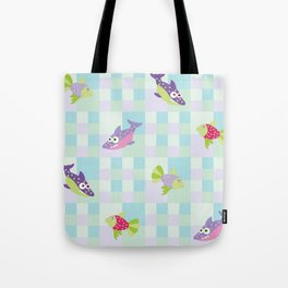 Crazy Fishes Tote Bag