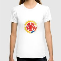 colombia T-shirts featuring WORLDCUP IS COMING! - COLOMBIA by Andres Corredor