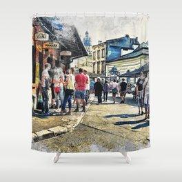 Cracow art 6 Kazimierz #cracow #krakow #city Shower Curtain