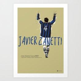 Javier FC Internazionale Milano / Serie A Superstar Football Player Art Print