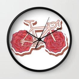 Rose Bike Wall Clock