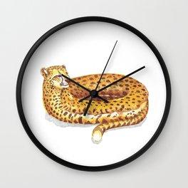 Cheetah Doughnut Wall Clock