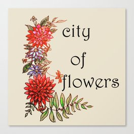 city of flowers . art . Canvas Print