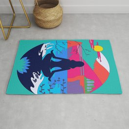 Colorful Shadow Zen State of Mind Rug