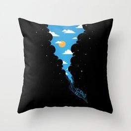 Skydiver Throw Pillow