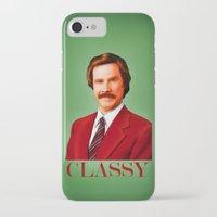 classy iPhone & iPod Cases featuring CLASSY by John Medbury (LAZY J Studios)