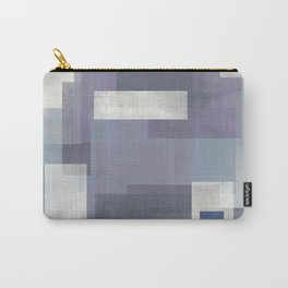 MODERN ABSTRACT NO. 9 | LAVENDER, BLUE GRAY, INDIGO, WHITE + EGGPLANT Carry-All Pouch