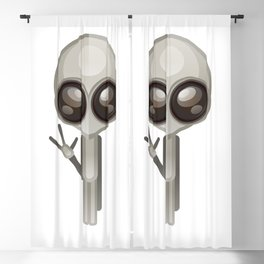 Funny big eyes E.T. Blackout Curtain