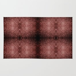 Beautiful Glam Marsala Brown-Red Glitter sparkles Rug