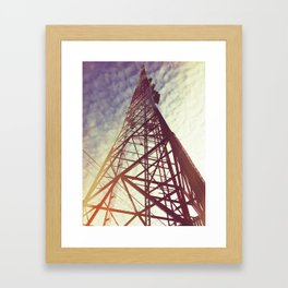 Radio Tower Framed Art Print