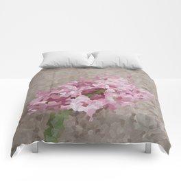 Pink Hyacinth Comforters