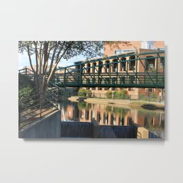 Red Brick Reflections Metal Print
