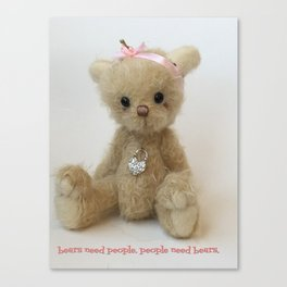 Chicago Teddy bear quote Canvas Print
