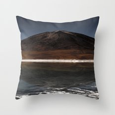 Mountain of the lake Throw Pillow