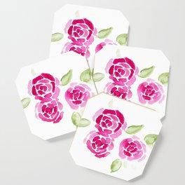 Cheerful Rose Coaster