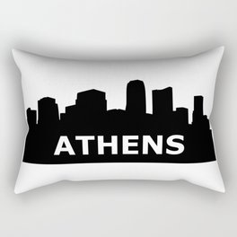 Athens Skyline Rectangular Pillow